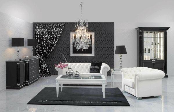 La décoration noir et blanc vous surprenda avec style et chic ...
