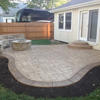 Patio stamped concrete patio Design Ideas, Pictures, Remodel and ...