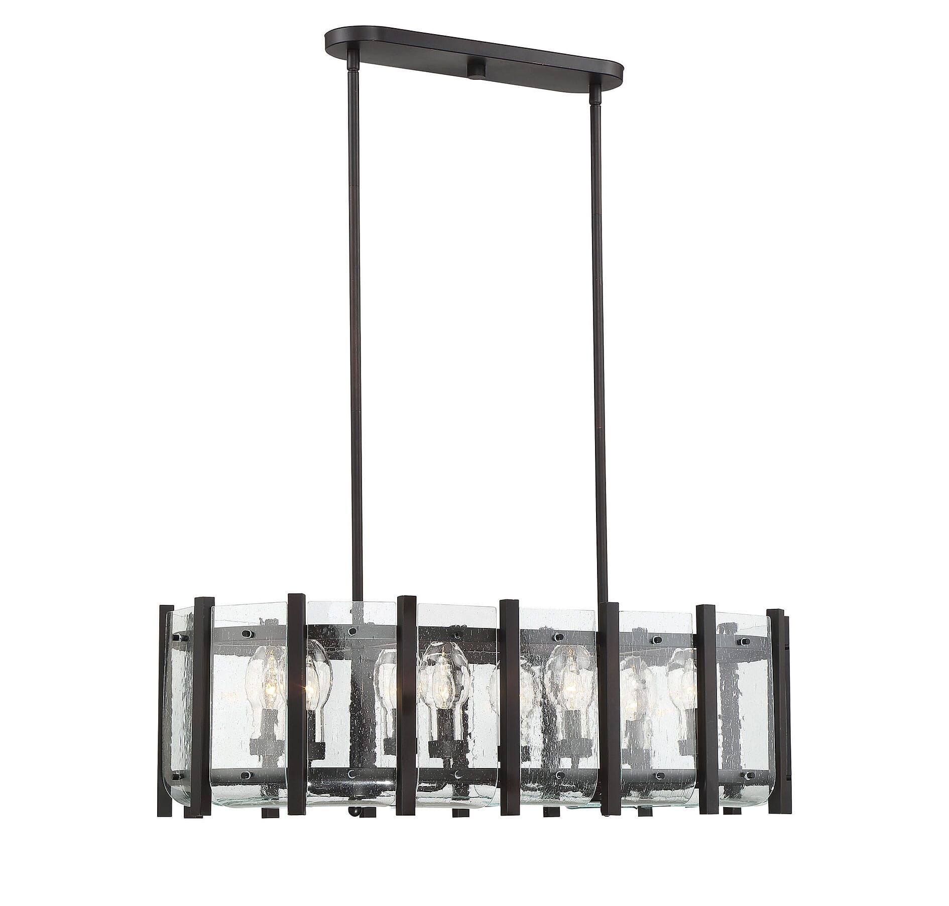 Savoy House Racine 8 Light Outdoor Linear Chandelier In English