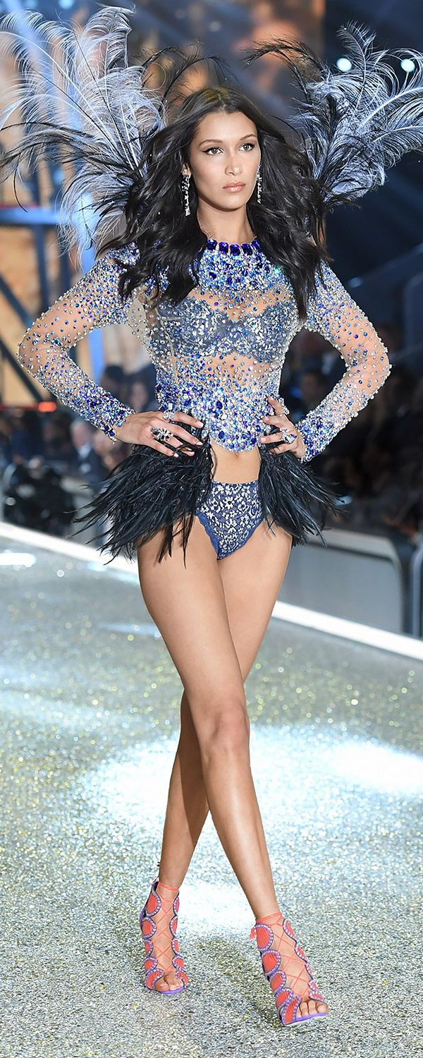 d84d775a07 Major opulence  Bella Hadid s feathered