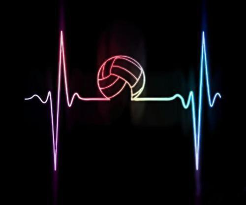 Mein herz ist ein volleyballmatch tattoos volleyball wasserball und fussball - Volleyball geschenke ...