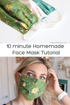 Homemade Face Mask with Elastic - 10 minutes
