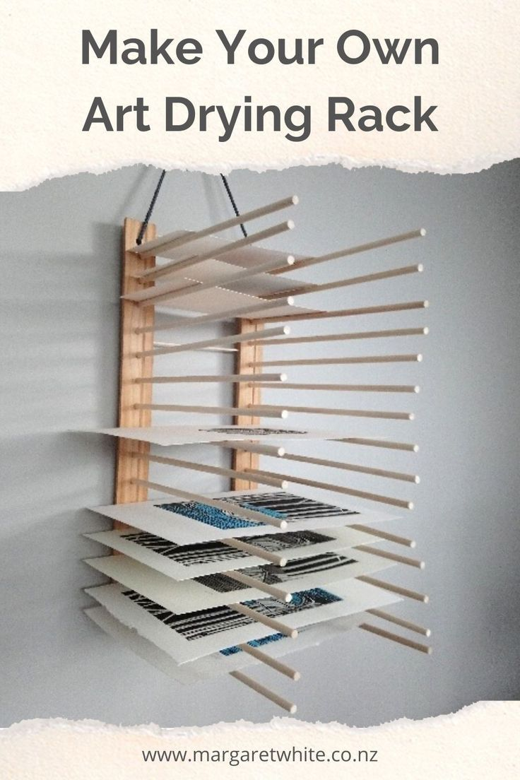 Make Your Own Art Drying Rack - Step By Step