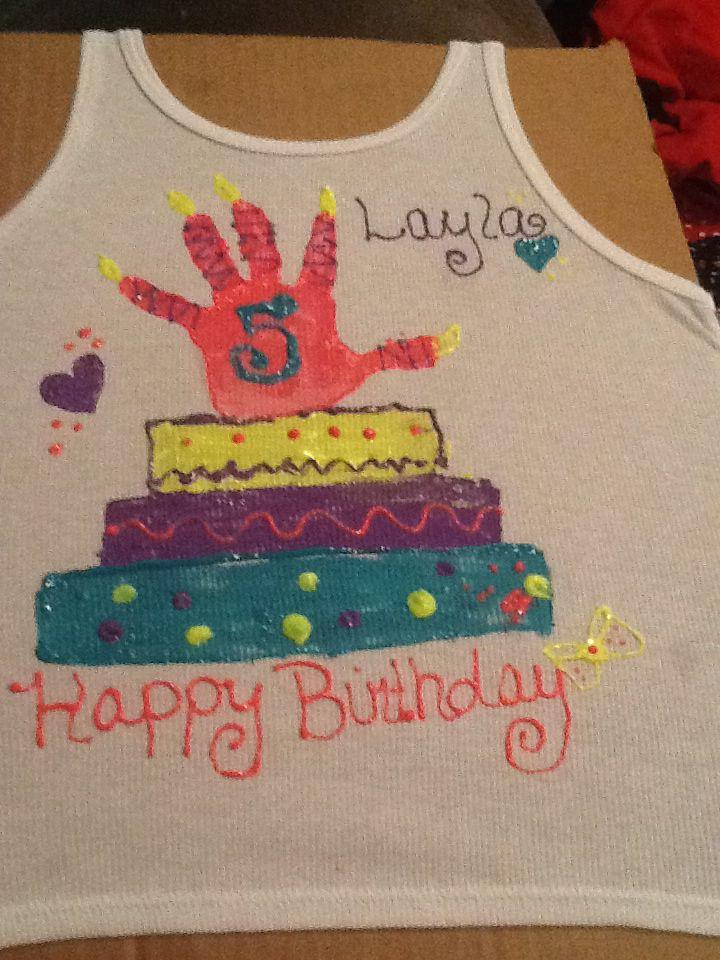 Laylas diy hand print birthday shirt birthday projects pinterest laylas diy hand print birthday shirt solutioingenieria Image collections