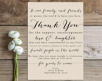 Image Result For Thank You Reception Cards