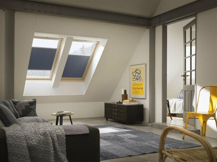 modernes Schlafzimmer und Sonnenschutz großer Teppich Fenster und