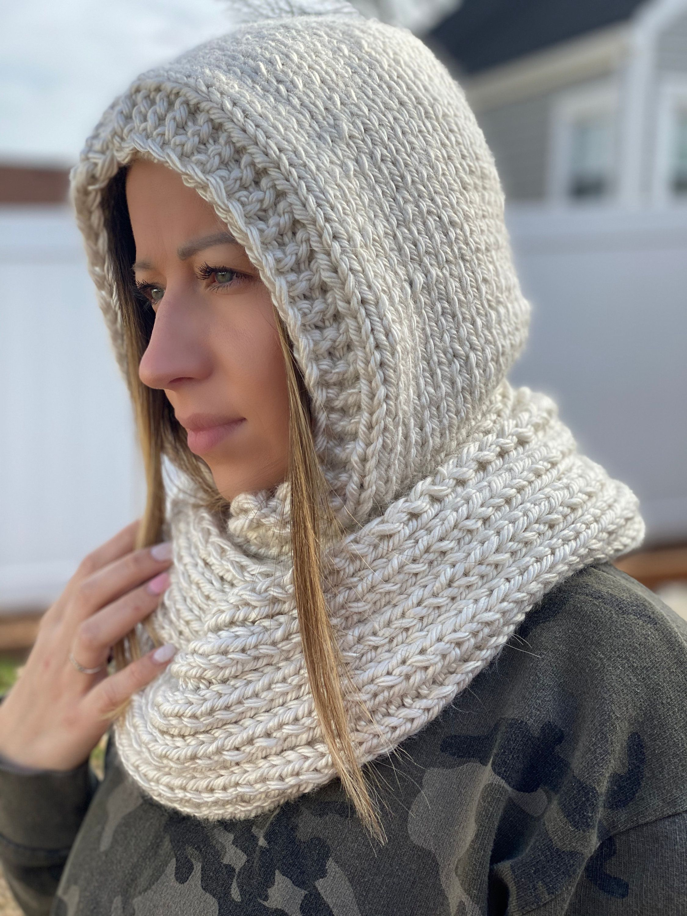 Hooded infinity scarf for woman infinity scarf hooded