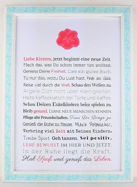 Gift for retirement woman personalised gift for for Abschiedsgeschenk kollegin ruhestand
