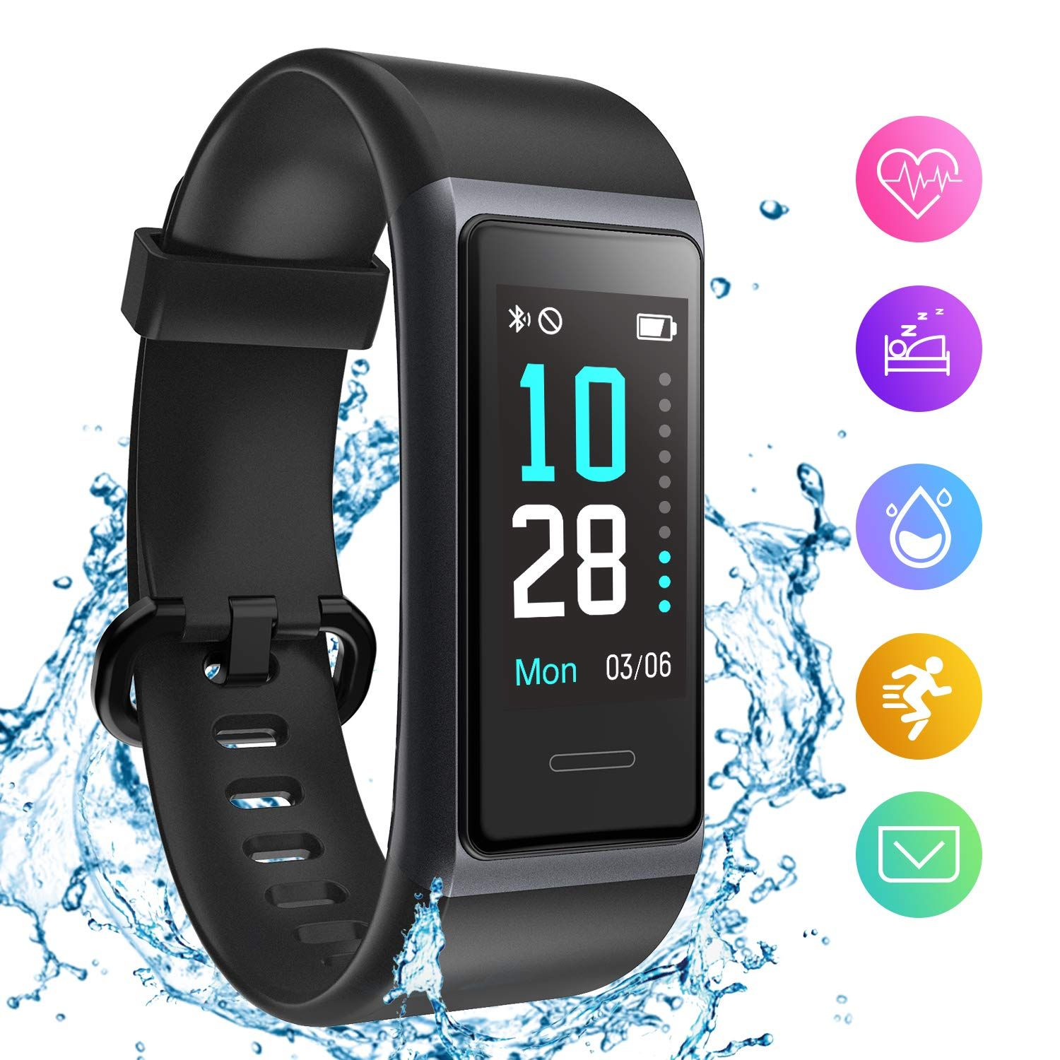 【Smart Activity Tracker】HolyHigh 153 fitness tracker can