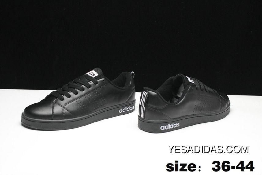 brand new cc596 97aa2 All Black Adidas Vs Advantage Clean NEO Casual Shoes Women And Men Sneakers  Discount