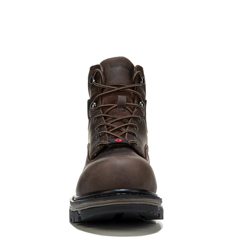 """Wolverine Men's Nation 6"""" Medium/X-Wide Composite Toe Work Boots (Brown Leather) - 11.0 2W"""