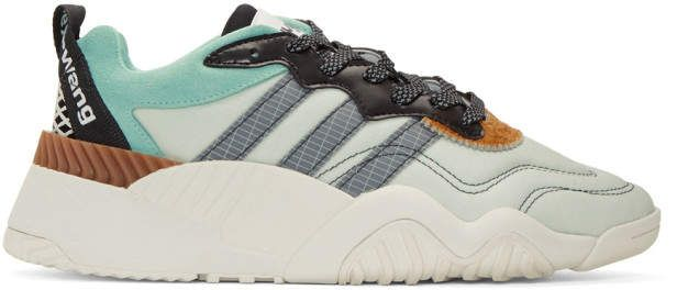 get cheap fe475 69b0b adidas Originals by Alexander Wang Green Turnout Trainer Sneakers