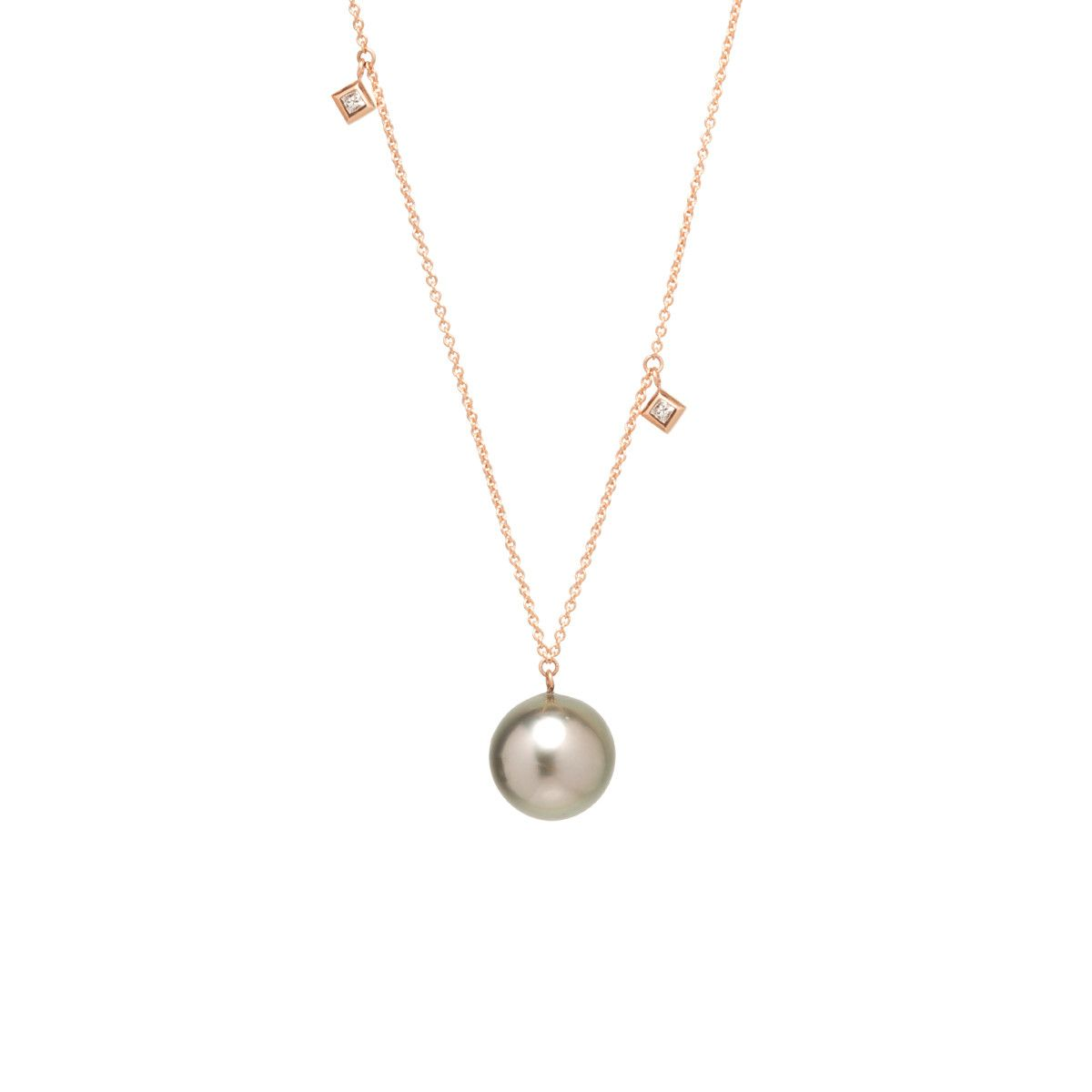 princess the pin necklace in pearls freshwater zirconia beyond pearl rack white