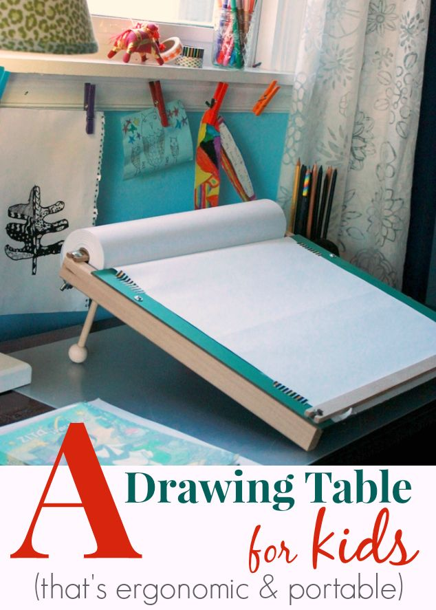 A Slanted Kids Drawing Table Ergonomic And Portable Artful