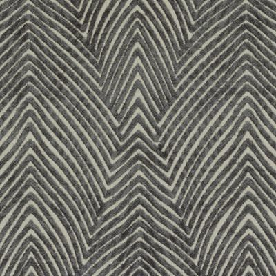 Upholstery Fabric -  Graphite Abstract Fabric Pattern