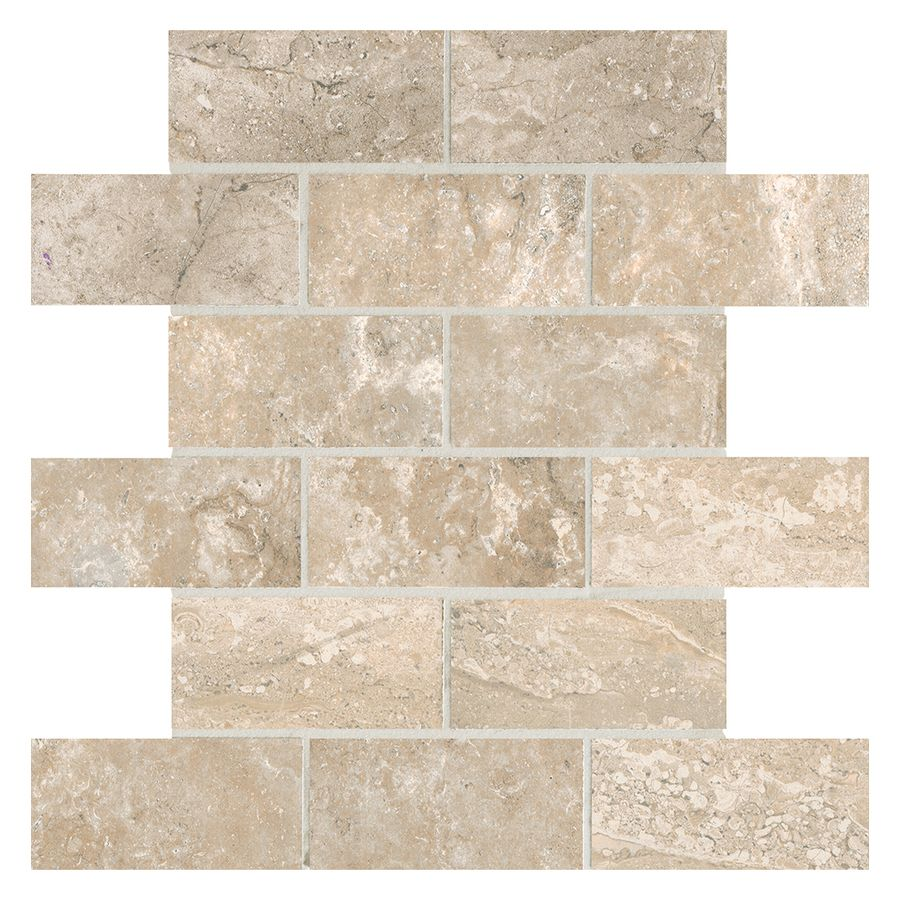 Tumbled Riverbed Walnut Beige 3: American Olean Laurel Heights 12-Pack Elevated Beige Brick