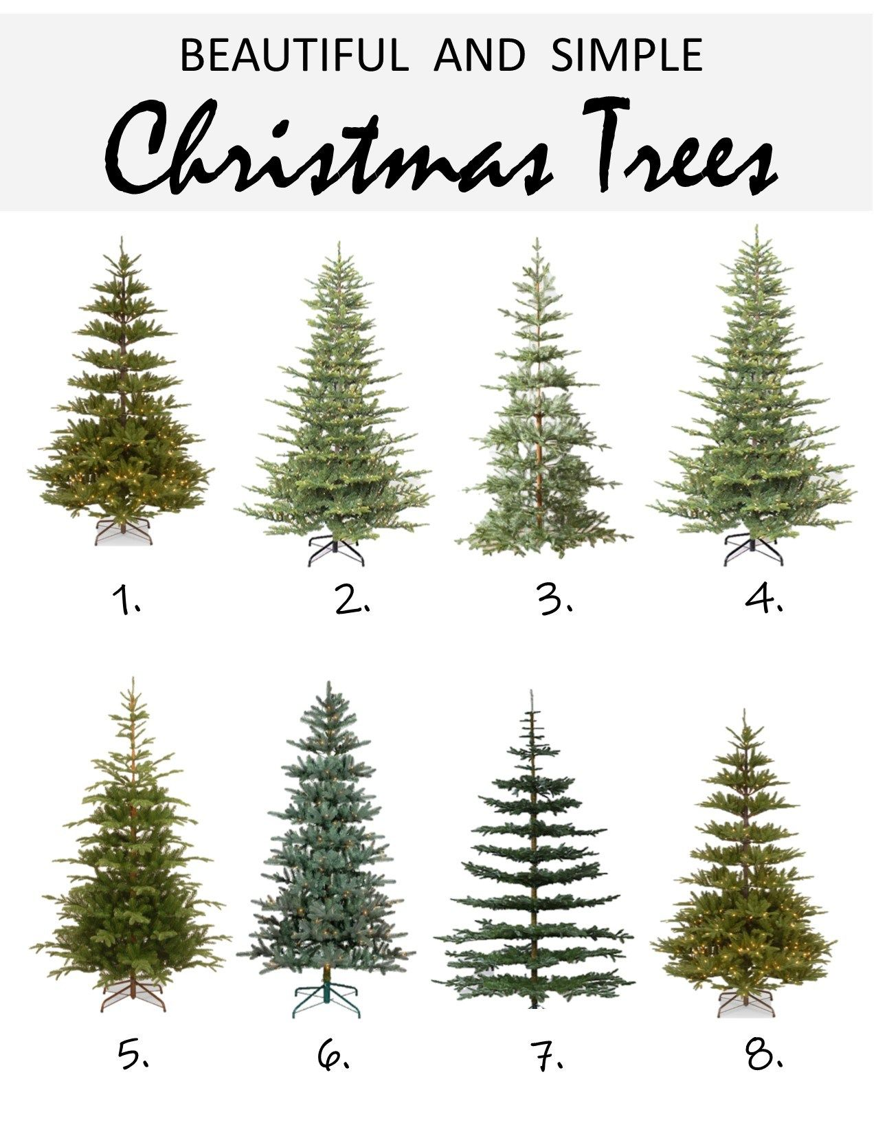 Use This Roundup To Help You Find The Perfect Faux Christmas Tree For Your Home Christmast Faux Christmas Trees Christmas Tree Lighting Simple Christmas Tree