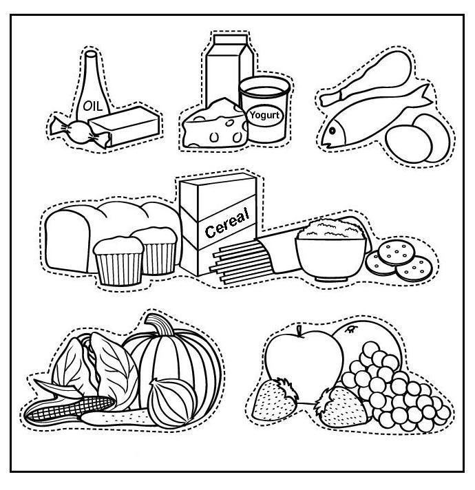 imagenes-de-alimentos-nutritivos-para-niu00f1os-para-colorear.jpg (690u00d7712) : Material escolar ...