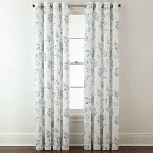 Captivating Buy JCPenney Home Quinn Jacobean Grommet Top Curtain Panel At JCPenney