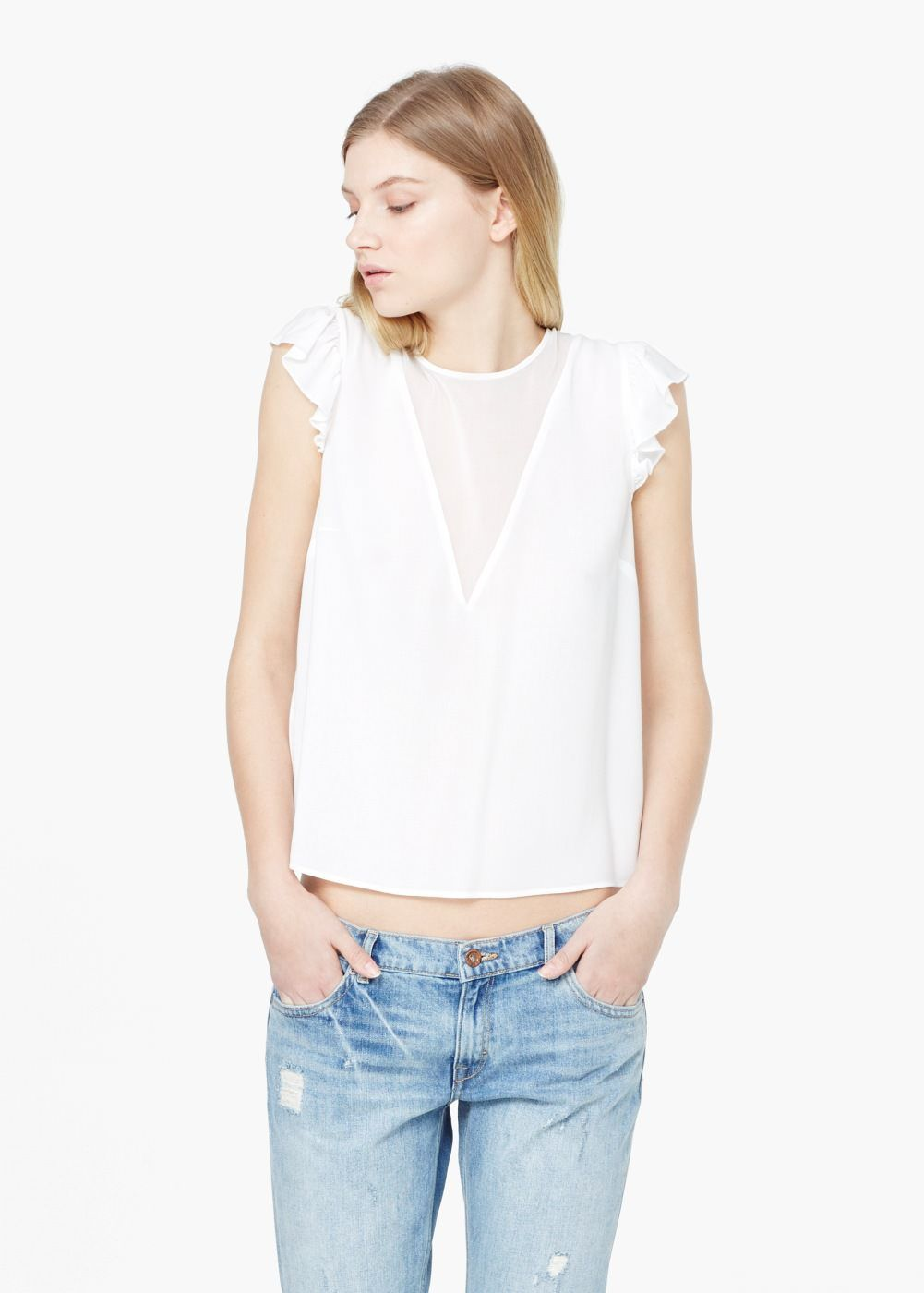 b2c9d462124d Ruffle sleeves blouse - Woman