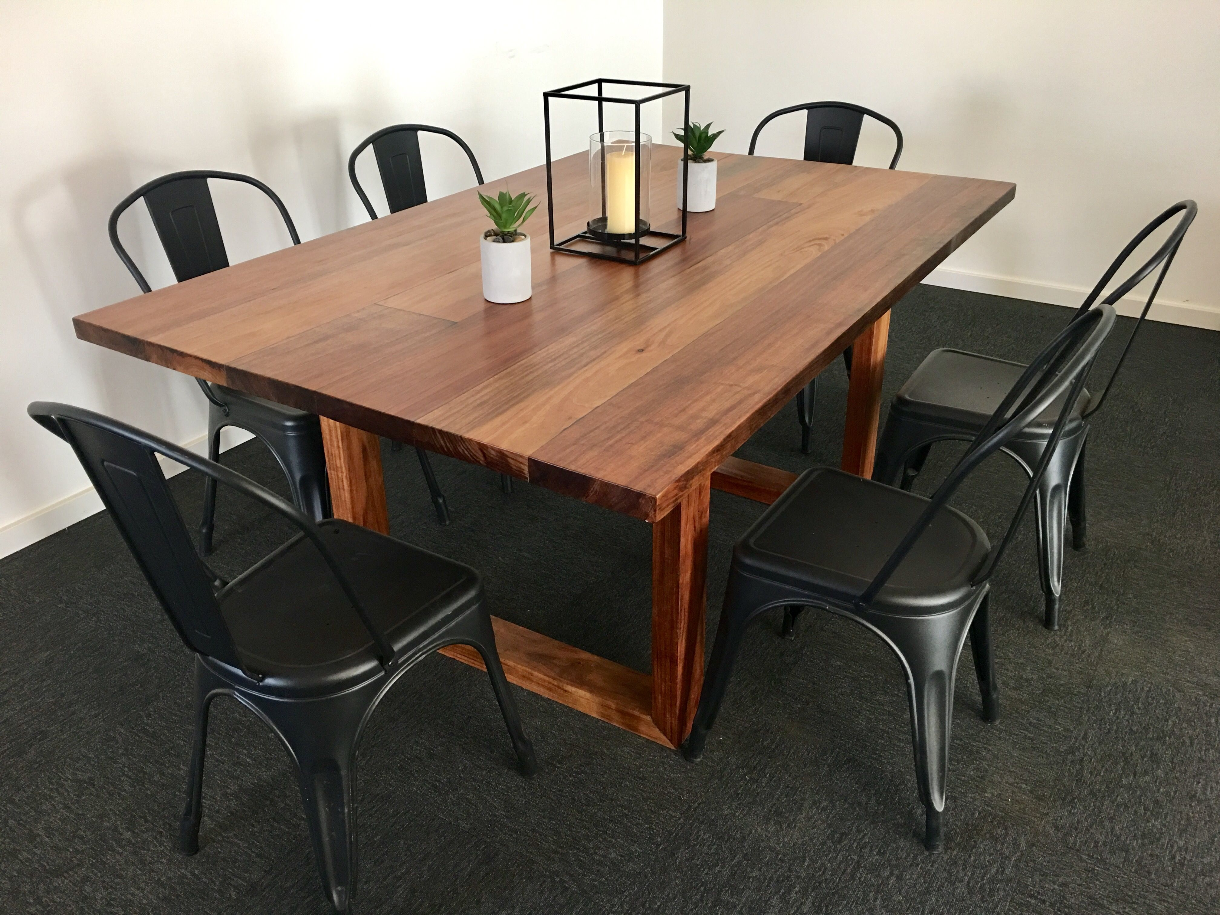 Dining Table With Box Wooden Legs