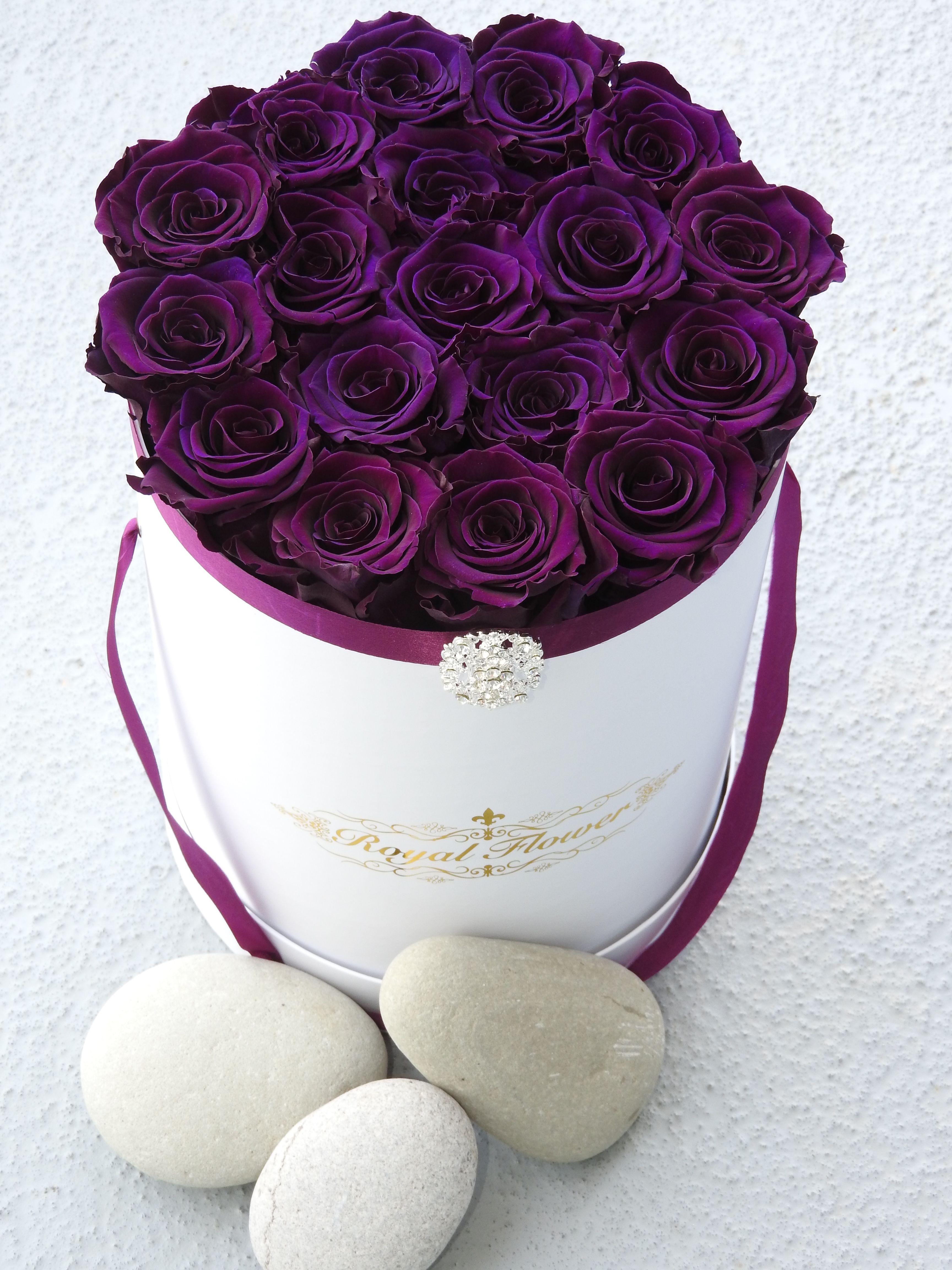 Royal Purple rose box from Royal Flower ♛ ♛Royal Flower