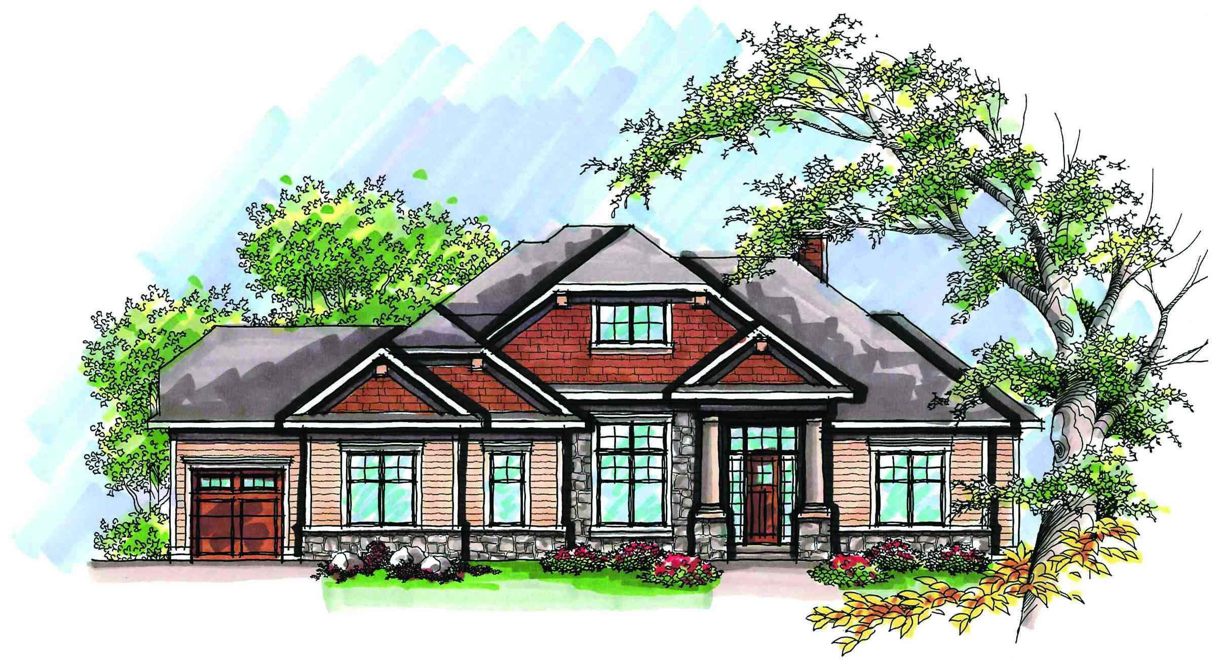 Plan 89732ah Shaker Siding Beauty Available In Alternate Exteri Ranch Style House Plans Bungalow Style House Plans Craftsman Style House Plans