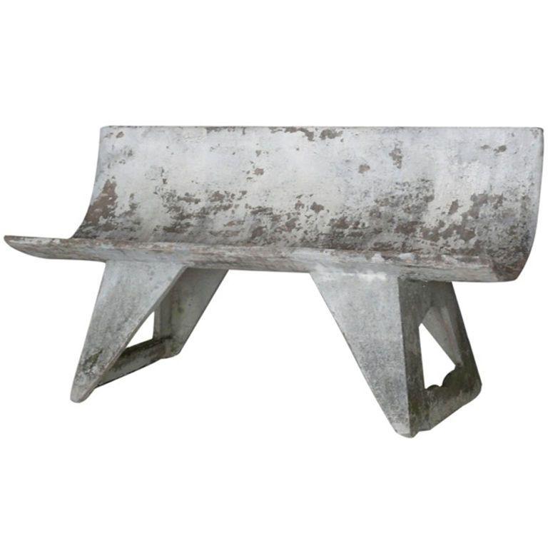 French Cast Concrete Bench Concrete Bench Bench Concrete