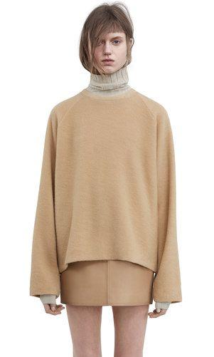 Cassie brushed fleece, Oatmeal Beige Melange, 301x