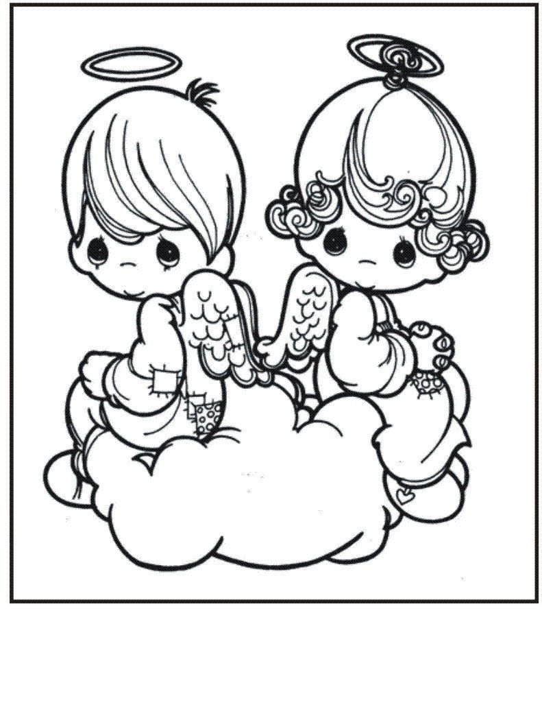 Free Printable Precious Moments Coloring Pages For Kids Angel