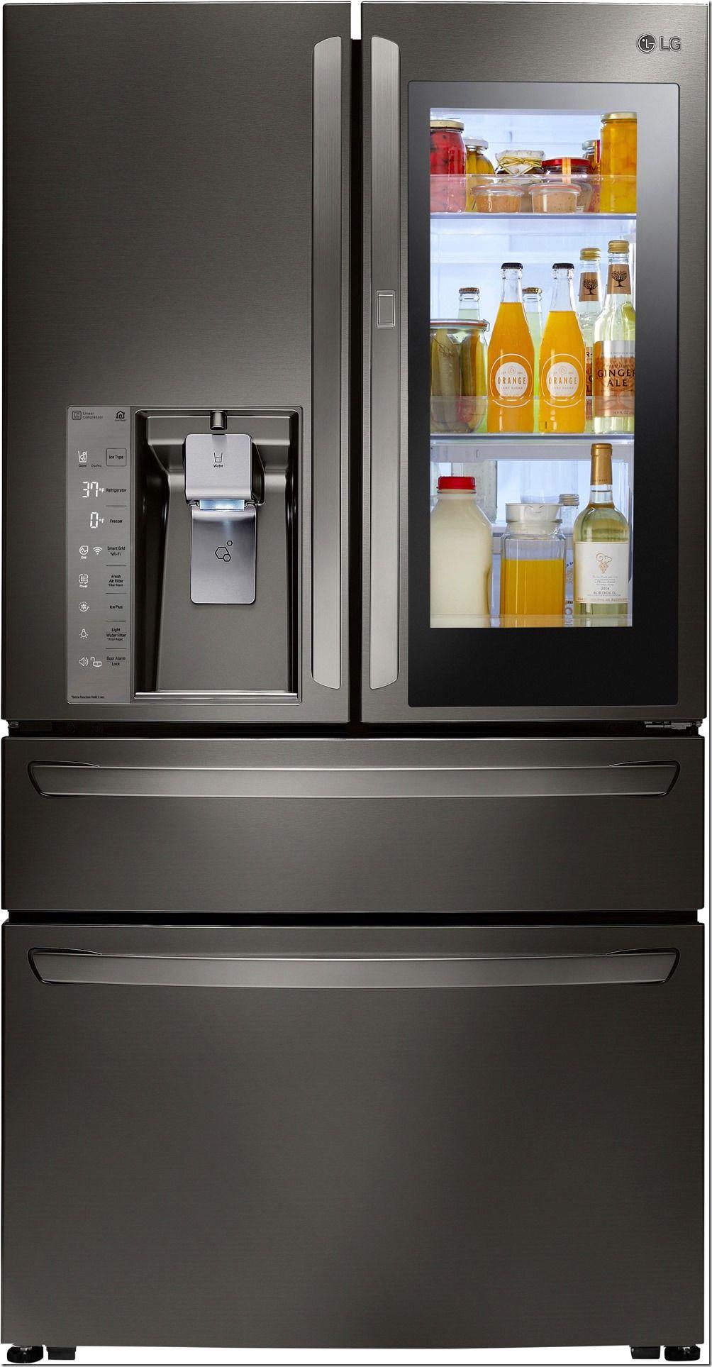 Lg Smart Fridge Smart Fridge Kitchen Appliances Glass Door Refrigerator
