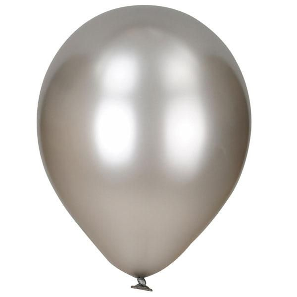 Pack of 50 Pearlised Balloons - Silver
