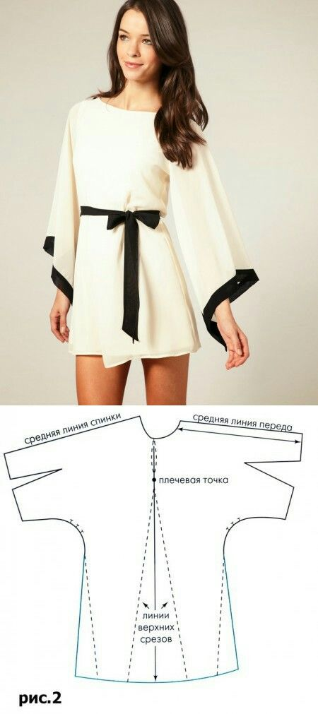 Выкройка рукава кимоно | Patrones de costura | Pinterest | Sewing ...