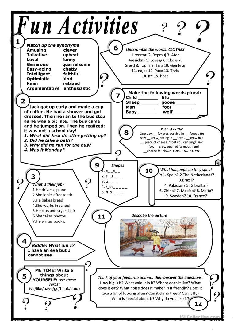 End of term fun worksheet - Free ESL printable worksheets ...