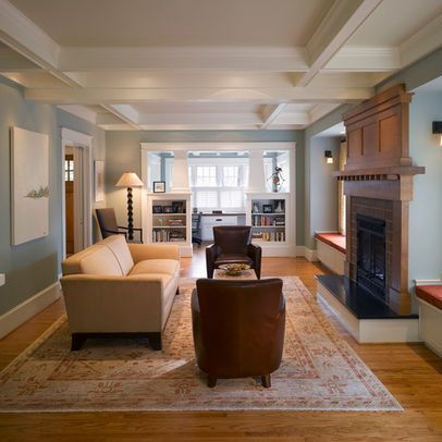 Wythe blue design pictures remodel decor and ideas for Craftsman living room ideas