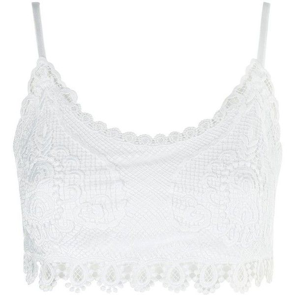 93528a93bcf75 Topshop Tall Crochet Bralet ( 23) ❤ liked on Polyvore featuring topshop