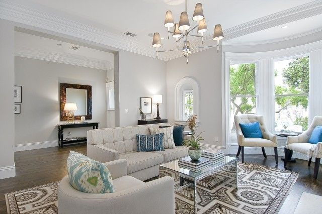 Modern living room with gray walls paint color oatmeal - Ivory painted living room furniture ...