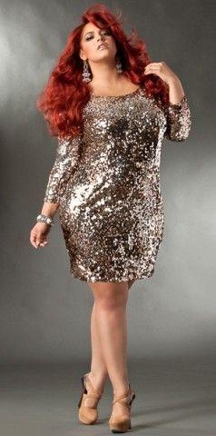 Plus Size Sequin Dress | Curvy girl fashion, Plus size ...