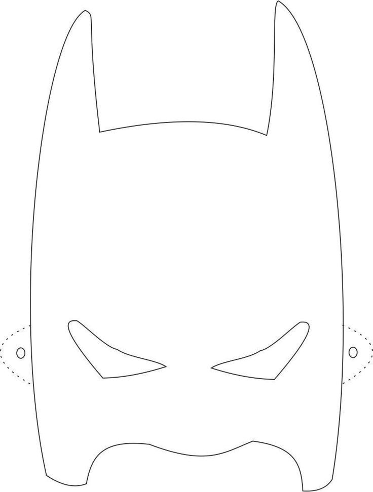 Batman Mask Printable Coloring Page For Kids