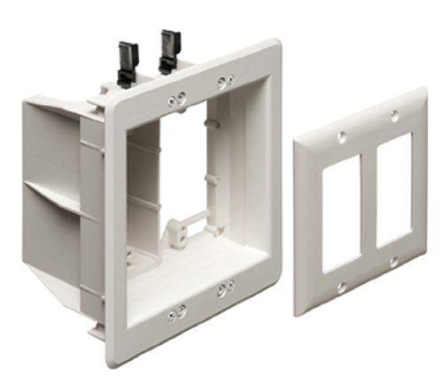 arlington tvbu505 1 tv box recessed outlet wall plate kit 2 gang arlington tvbu505 1 tv box recessed outlet wall plate kit 2 gang