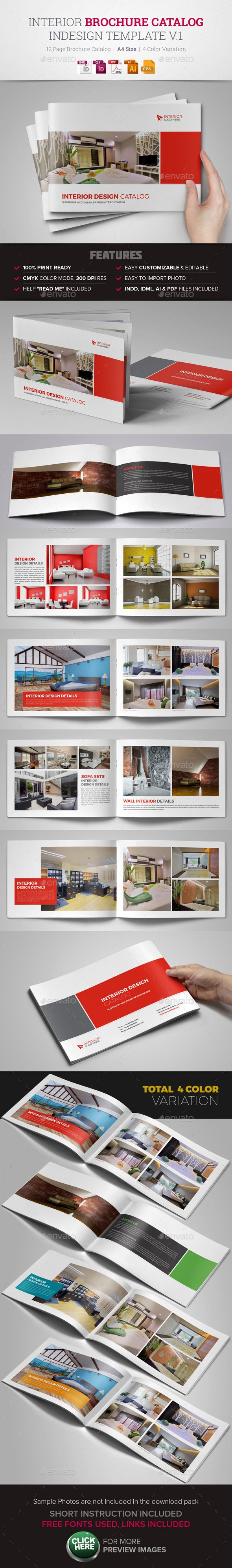 Interior Brochure Catalog InDesign Template Design Download Graphicriver