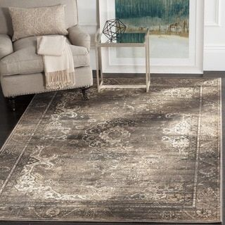 For Safavieh Vintage Soft Anthracite Viscose Rug 6 7 X 9 2