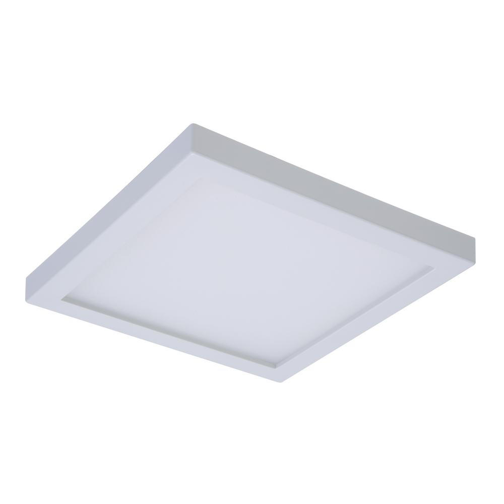 Halo Smd 4 In 4000k Cool White Integrated Led Recessed Square Surface Mount Ceiling Light Trim With 90 Cri Smd4s6940wh Ceiling Lights Downlights Recessed Lighting Trim