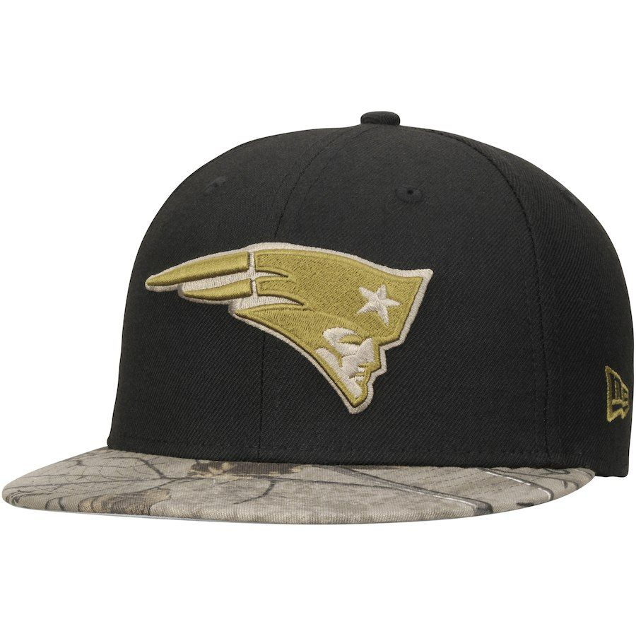 2d405cf4a9 Men new england patriots new era black realtree camo rambo fifty fitted hat  your price jpg
