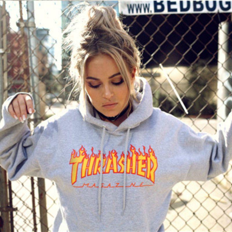 Women Lady Men Autumn Winter Hooded Sweatshirts Hip Hop