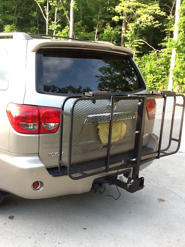 "Trailer Hitch Luggage Rack 24X60 Surco Cargo Carrier For 2"" Hitches  Steel  Folding  500 Lbs"