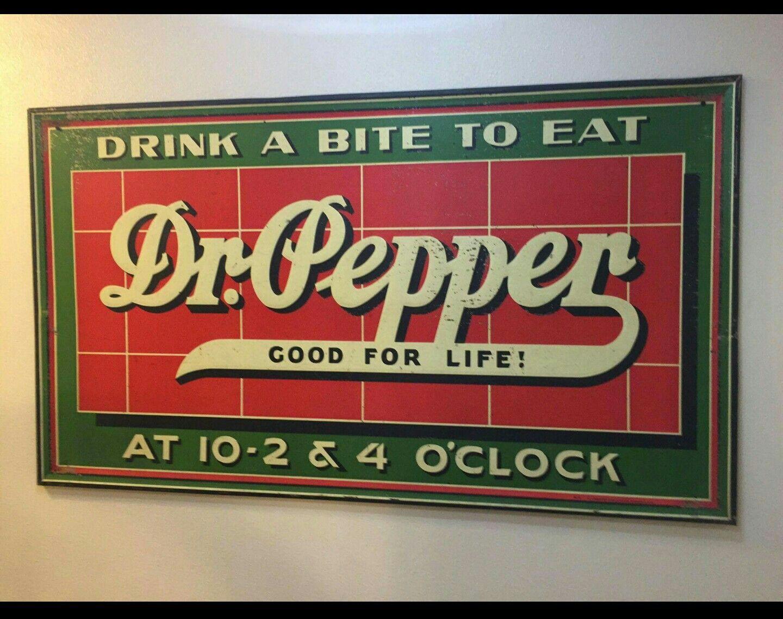 Huge Original Dr Pepper Soda Sign Stuffed Peppers Beer Signs Dr Pepper