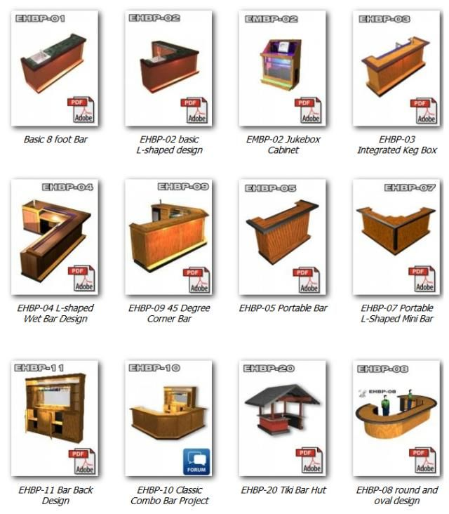 Check out the entire bar plans collection | Build a Bar | Pinterest ...