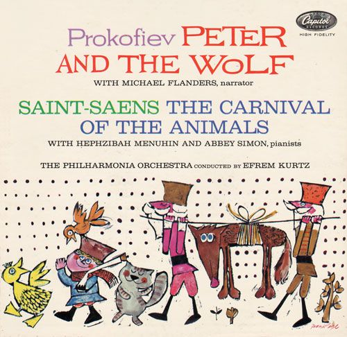 peter and the wolf - michael flanders (capitol)   fauna graphics