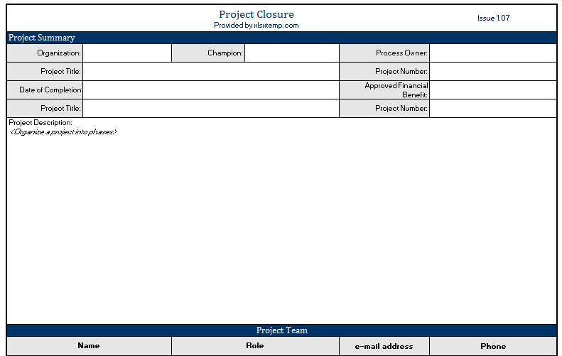 Looking For The Ready To Use And Premium Project Closure Template